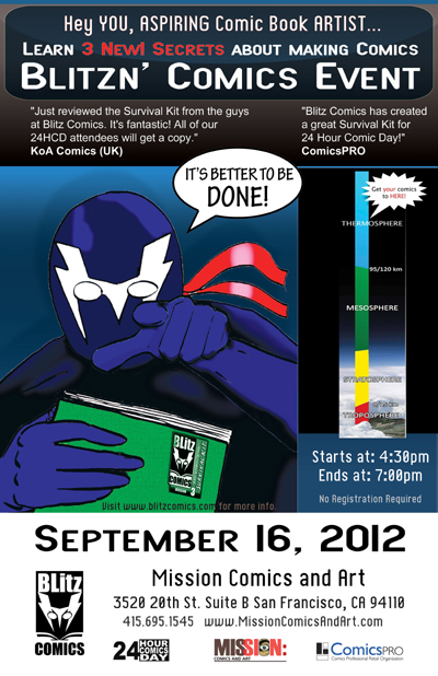The 2nd Annual Blitzn' Comics Event Flyer