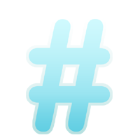 Twitter Hash Tag logo